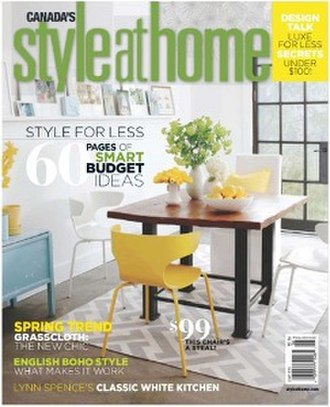 Style at Home - Image: Style at Home (magazine) cover
