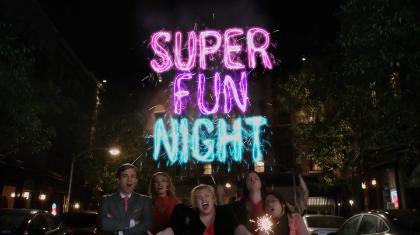 Super Fun Night intertitle
