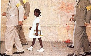 Image result for ruby bridges norman rockwell