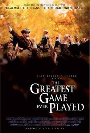 The Greatest Game Ever Played - Promotional poster