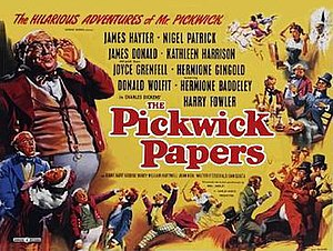 The Pickwick Papers (1952 film) - Original British 1952 quad film poster