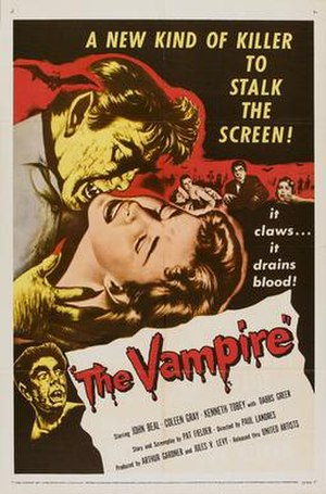 The Vampire (1957 film) - Theatrical release poster