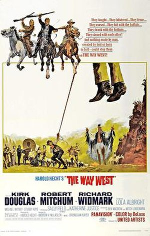 The Way West (film) - Original 1967 cinema poster
