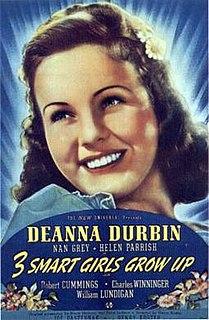 <i>Three Smart Girls Grow Up</i> 1939 film