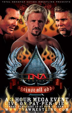 Against All Odds (2005) - Promotional poster featuring Scott Hall, Jeff Jarrett, Kevin Nash