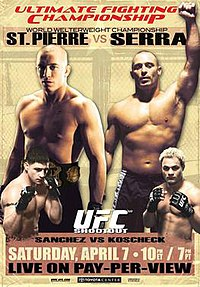 A poster or logo for UFC 69: Shootout.