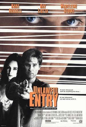 Unlawful Entry (film) - Theatrical release poster