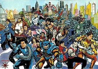 Valiant Comics -  The Valiant Universe, drawn by Bernard Chang, inked by Bob Layton, Tom Ryder and various