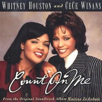 Count On Me (Whitney Houston and CeCe Winans song) - Image: Whitney Houston Count On Me