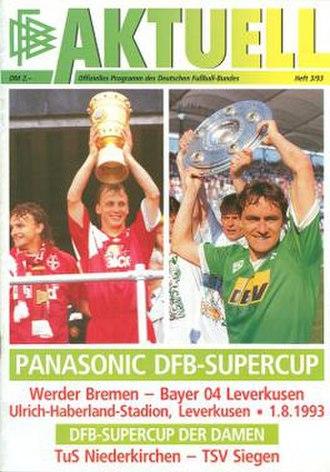 1993 DFB-Supercup - Image: 1993 DFB Supercup programme