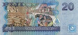 Fijian dollar - Image: 20 FJD reverse 2007