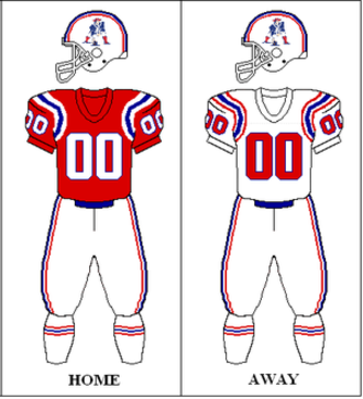 1988 New England Patriots season - Image: AFC 1988 1989 Uniform NE