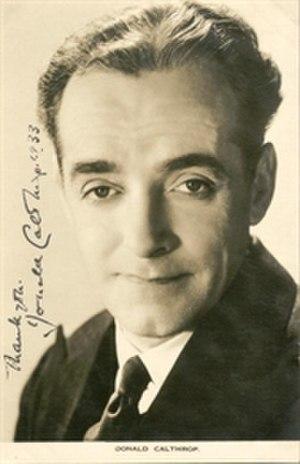 Donald Calthrop - Autographed still, 1933