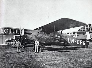 Jat Airways - Six Aeroput Potez 29/2 biplanes at the old Belgrade-Dojno polje Airport, 1929