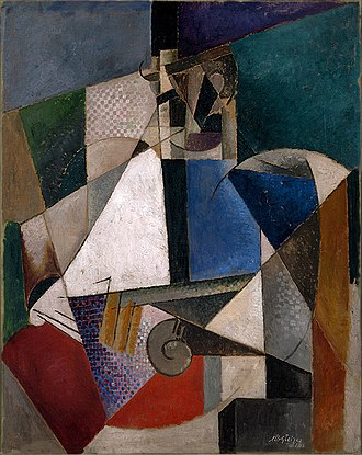 Portrait of an Army Doctor - Image: Albert Gleizes, 1914 15, Portrait of an Army Doctor (Portrait d'un médecin militaire), oil on canvas, 119.8 x 95.1 cm, Solomon R. Guggenheim Museum