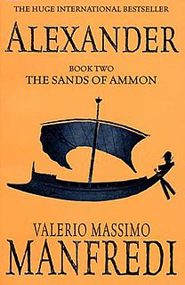 <i>The Sands of Ammon</i> second part of Valerio Massimo Manfredis Alexander trilogy, released in 1998