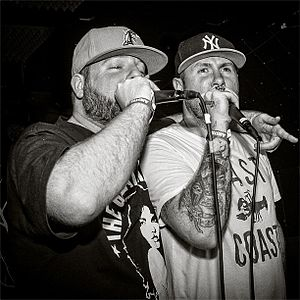 In Death Reborn - Celph Titled and Apathy both provided vocals on 11 of the 14 tracks, Apathy also produced a track for the album.