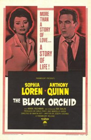 The Black Orchid (film) - Theatrical poster