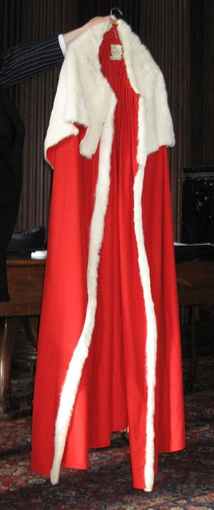 Academic dress in the United Kingdom - One of the copes of the University of Cambridge