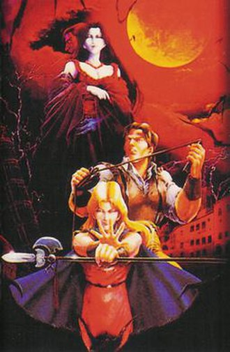 Castlevania: Bloodlines - Artwork used for the cover of the Japanese, European and Australian versions