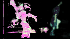 You're the One (Charli XCX song) - Charli XCX dancing in the style of a GIF on the left. This picture showcases the visual effects used in the video.