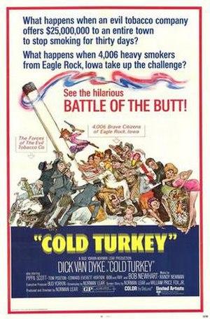 Cold Turkey (film) - 1971 movie poster by Sandy Kossin