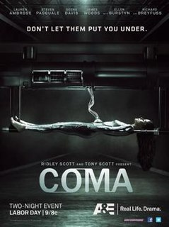 <i>Coma</i> (American miniseries) 2012 US medical thriller miniseries by Mikael Salomon