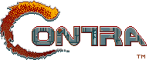 Contra (series) - The Contra logo as it appears on the title screen of the 1987 Contra arcade game.