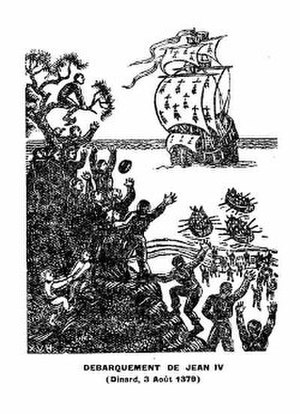 Xavier Haas - The Disembarkation of Jean IV, Dinard, 3 August 1379. An illustration to Danio's history of Brittany