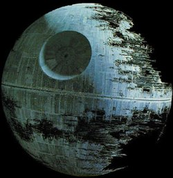 The second Death Star in Return of the Jedi