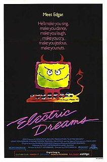 <i>Electric Dreams</i> (film) 1984 British-American science fiction romantic comedy-drama film directed by Steve Barron