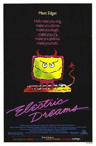 Electric Dreams (film) - Theatrical release poster