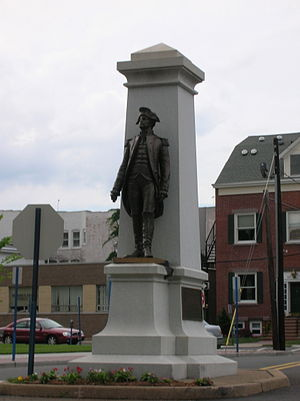 Enoch Poor - The monument to Gen. Poor, just a few feet from his burial site in Hackensack.