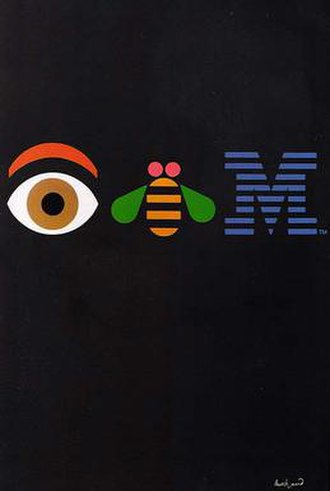 Paul Rand - Eye Bee M poster designed by Rand in 1981 for IBM.
