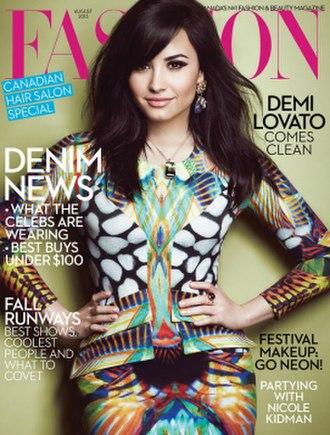Fashion (magazine) - August 2013 cover featuring Demi Lovato