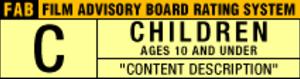 Film Advisory Board - C rating symbol