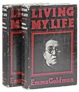 <i>Living My Life</i> autobiography of Lithuanian-born anarchist Emma Goldman