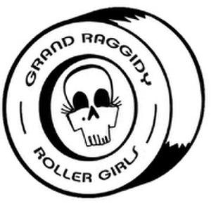 Grand Raggidy Roller Derby - pre-2015 league logo