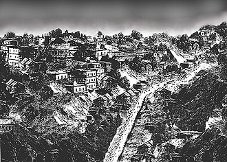 Pichal Peri - An imaginary portrait of mountainous region that bears close similarity to Himalayan foothills of 1860's.