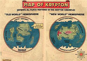 Krypton (comics) - Map of Krypton