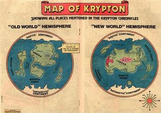 Krypton (comics) - Map of Krypton
