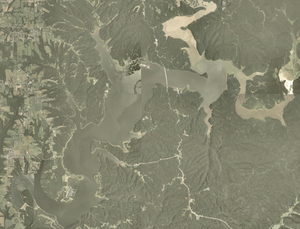 Lake Monroe (Indiana) - Satellite image of the lake