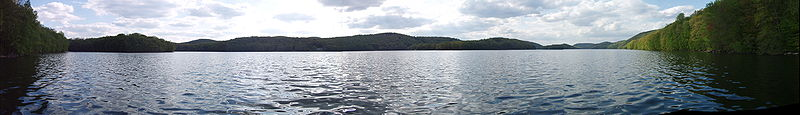 Spring View of Sherman End of Candlewood Lake with Candlewood Mountain