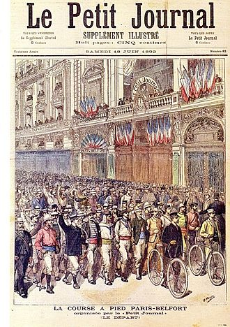 Le Petit Journal (newspaper) - Special 'Paris-Belfort' edition of Le Petit Journal from 18 June 1892