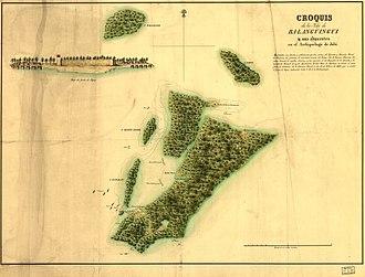 Spanish expedition to Balanguingui - Map of Balanguingui island, 1848.