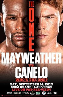 Floyd Mayweather Jr. vs. Canelo Álvarez Boxing competition