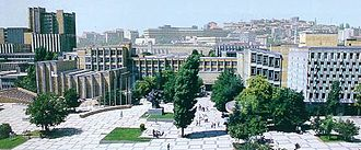 Hacettepe University - The Medical School on Main Campus, with old Ankara in the background.