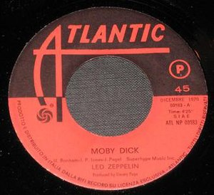 Moby Dick (instrumental) - Image: Moby Dick label