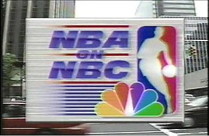 NBA on NBC - NBA on NBC logo used from 1990 to 2000.