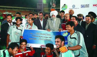 Field hockey in India - Orissa Steelers after winning PHL in 2007